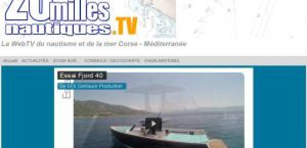 20millesnautiques.TV: essai d'un FJORD 40 à Ajaccio