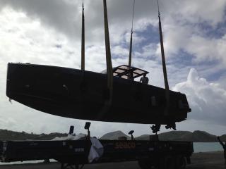Arrivée FJORD 40 à Antigua